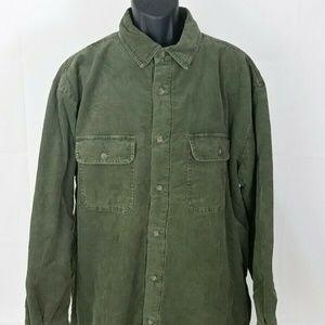 Woolrich Men's Size Large Olive Green Fleece Lined